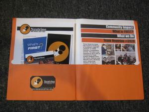 Team Neutrino sponsor folder